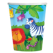 Becher Jungle Animals, 266 ml, 8 Stk.