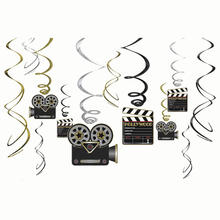 Girlanden-Set Hollywood spiralf�rmig, 12 Stk.