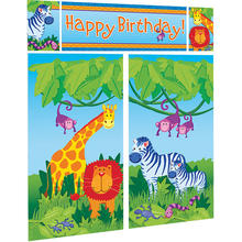 SALE Wand-Deko Jungle Animals, 5-teilig