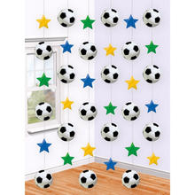 Girlande Fu�ball-Party, 6 St�ck � 2 m