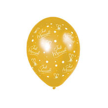 Luftballon Just Married, Gold, 25 Stk.