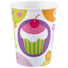 Becher Cupcake, 266 ml, 8 St�ck