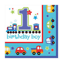 Servietten All Aboard 1. B.day Boy 33cm 16 Stk