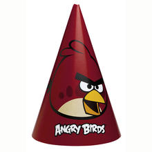SALE Party H�tchen Angry Birds, 6 Stk. 16,5 cm