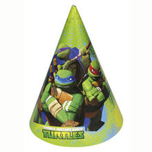 Party Hütchen Ninja Turtles, 6 Stk. 16,5 cm