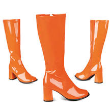 Stiefel Retro, orange Gr. 40