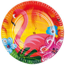 Teller Hawaii Flamingo, 6 Stk. � 23