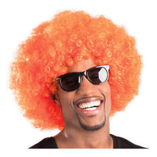 Perücke Unisex Herren Super-Riesen-Afro Locken, orange