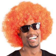Per�cke Super-Riesen-Afro, orange Locken