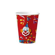 Becher Clown 10 Stk. 0,2 ltr.