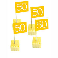 Party-Picker 50 Jahre, gold, 50 Stk.