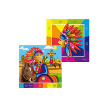 Servietten Indianer Party, 33 x 33 cm, 20 Stk.