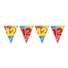 Mini-Wimpelkette Birthday Blocks 12, 3 m