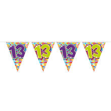 Mini-Wimpelkette Birthday Blocks 13, 3 m