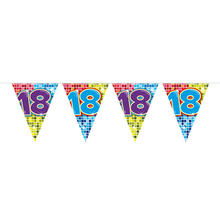 Mini-Wimpelkette Birthday Blocks 18, 3 m