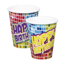 Becher Birthday Blocks, 250 ml, 6 Stück