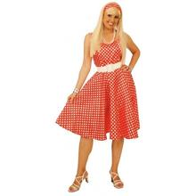 SALE Damen-Kost�m Betty, rot-weiss, Gr. 38