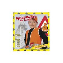 SALE Kinder-Weste Bauarbeiter, orange, Gr. 128