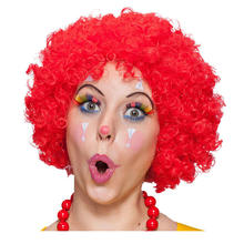 Perücke Unisex Clown, Afro Hair, kleine Locken, rot