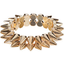 SALE Stachelarmband gold
