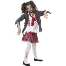 Kinder-Kostüm Zombie School-Girl, Gr. M