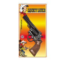 Pistole Lucky Luke, used-look, 12-Schuss