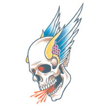 Tinsley Transfers Tattoo Winged Skull