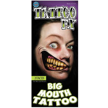 Tinsley Transfers Big Mouth Tattoo 2 Faced