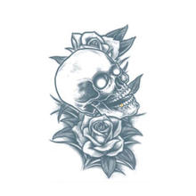 Tinsley Transfers Tattoo Skull and Roses