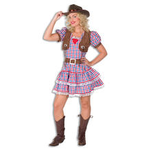 Damen-Kostüm Cowgirl Betty, Gr. 38