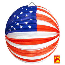 NEU Lampion USA, � 25 cm, flammensicher