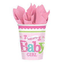 SALE Becher Welcome Little One Girl, 267 ml, 8 St.