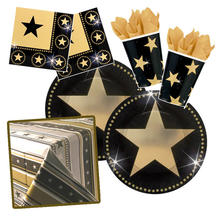 NEU Party-Set-Basic f�r 8 G�ste Hollywood Star