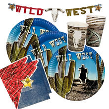 Party-Set-Basic für 12 Gäste Wild West