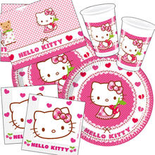 NEU Party-Set-Basic f�r 16 G�ste Hello Kitty