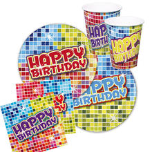 Party-Set-Basic f.6 Gäste Bday Blocks