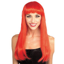 SALE Perücke Glamour Wig, rot