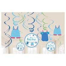 Girlanden-Set Shower Baby Boy, 12 Stk.