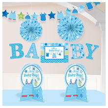 NEU Deko-Set Shower Baby Boy, 10-teilig
