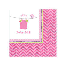 Servietten Shower Baby Girl, 25x25 cm, 16 Stk.