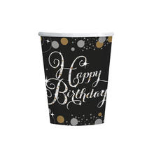 Becher Happy Birthday Sparkling 250 ml, 8 Stk.