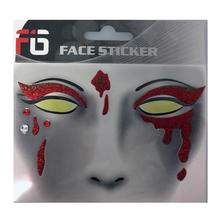 NEU Face-Sticker Klebetattoo Blut