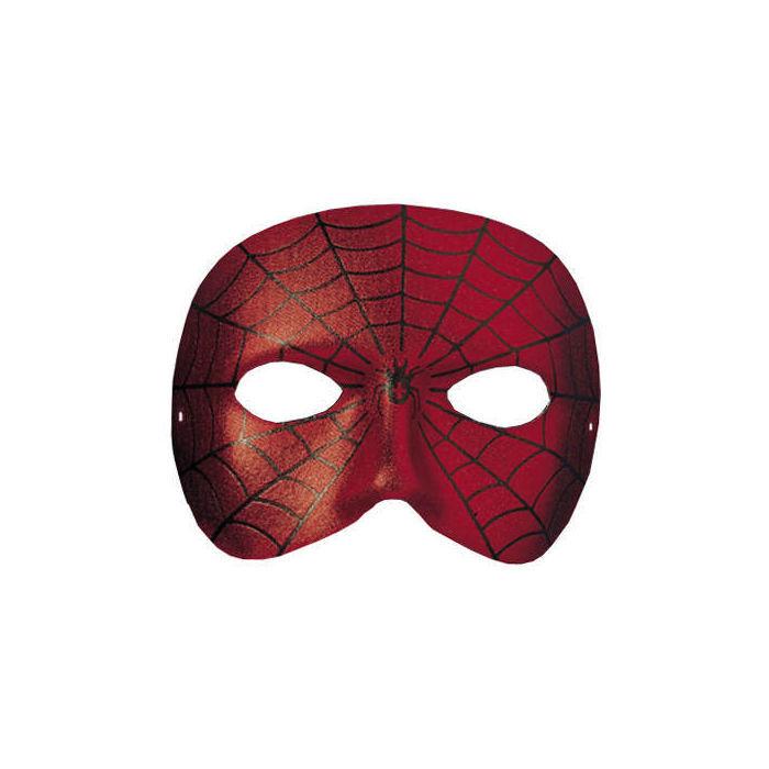 maske spiderface halbes gesicht kinder party spiderman. Black Bedroom Furniture Sets. Home Design Ideas