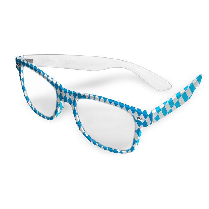 brille oktoberfest mit bayern raute in blau wei ideal. Black Bedroom Furniture Sets. Home Design Ideas