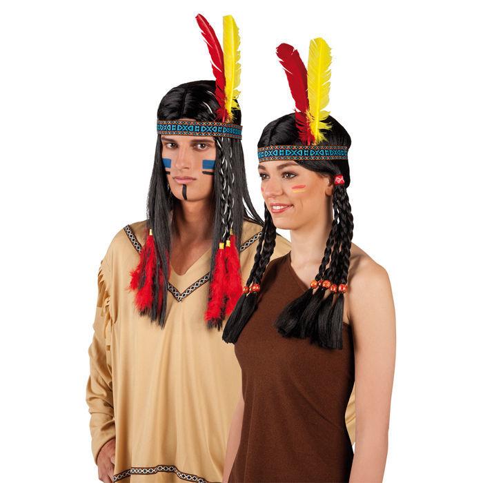 indianer stirnband mit 2 federn kopfschmuck federschmuck ebay. Black Bedroom Furniture Sets. Home Design Ideas