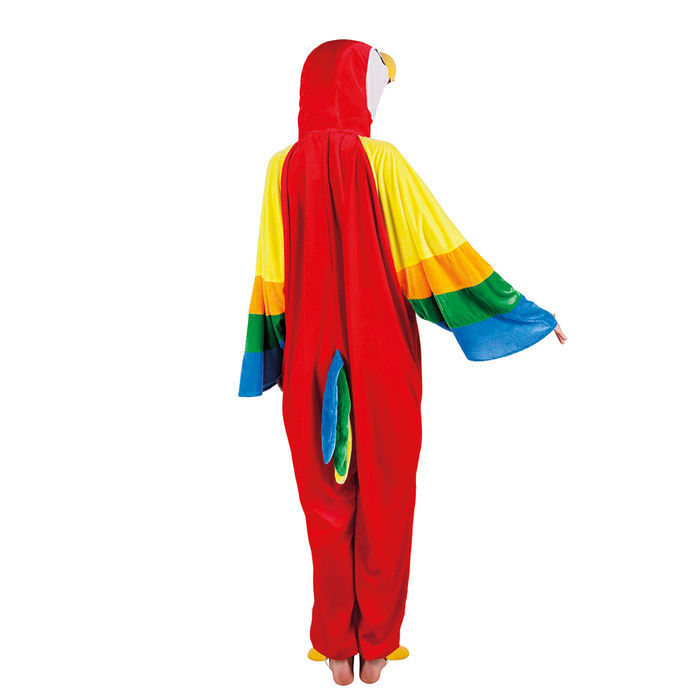 Papagei Kostüm Overall für Kinder mit Kapuze Gr 104-116 128-140 152-164 Vogel