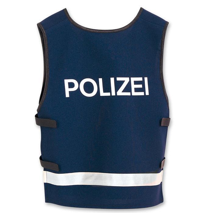 blaue polizei kostüm weste für kinder ideal für karneval