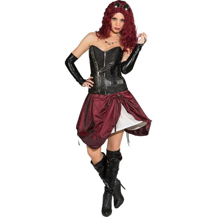 Kostüm Steampunk Reifrock weinrot Edel Mittelalter Barock Renaissance Damenrock