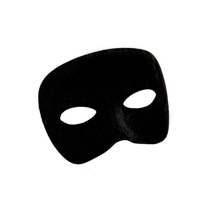 Maske halbes Gesicht aus Stoff, schwarz   eBay