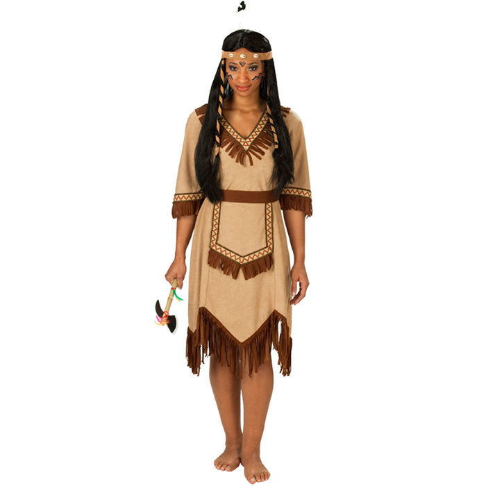 SALE-Damen-Kostuem-Indianerin-Apachen-Squaw-Indianerkostuem
